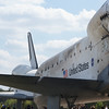 April 19, 2012, Space Shuttle Enterprise and Columbia swapping places